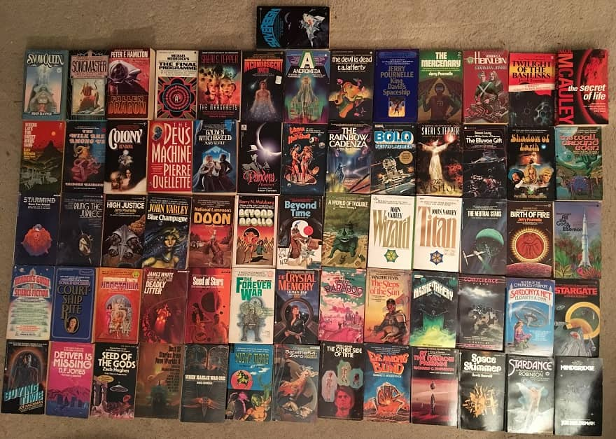 Science Fiction collection 65 novels 1970s-small