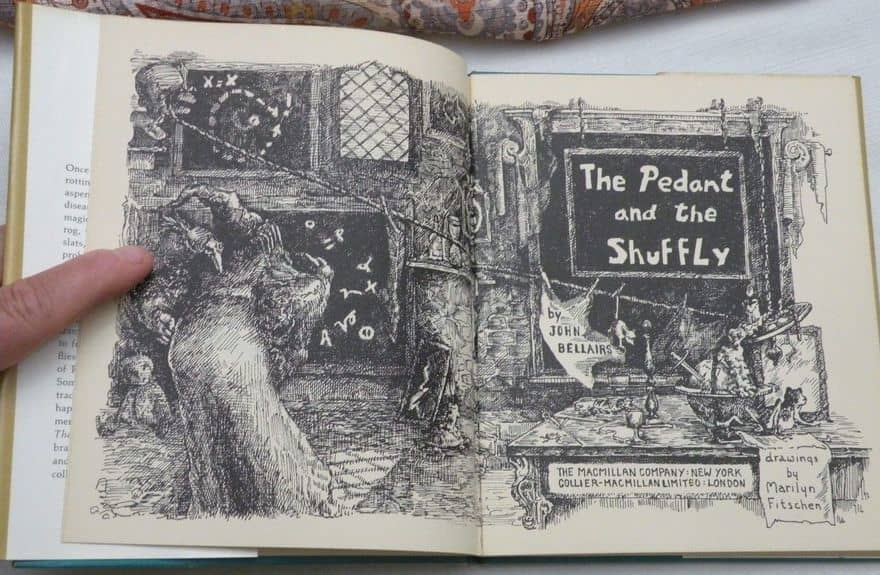 The Pedant and the Shuffly John Bellairs-inside-small