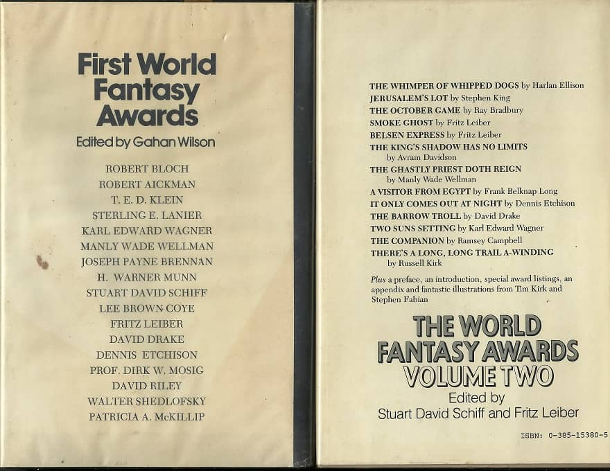 The World Fantasy Awards Volume One and Two-back-small