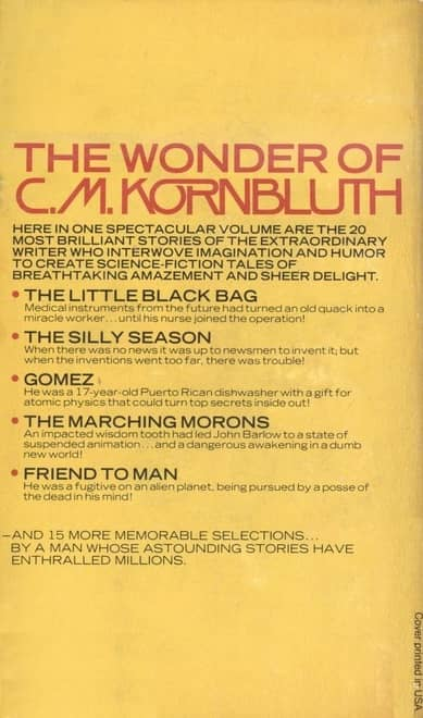 The Best of C. M. Kornbluth-back-small