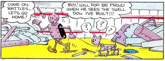 Axle and Cam on the Planet Meco Popeye #27 2 panel