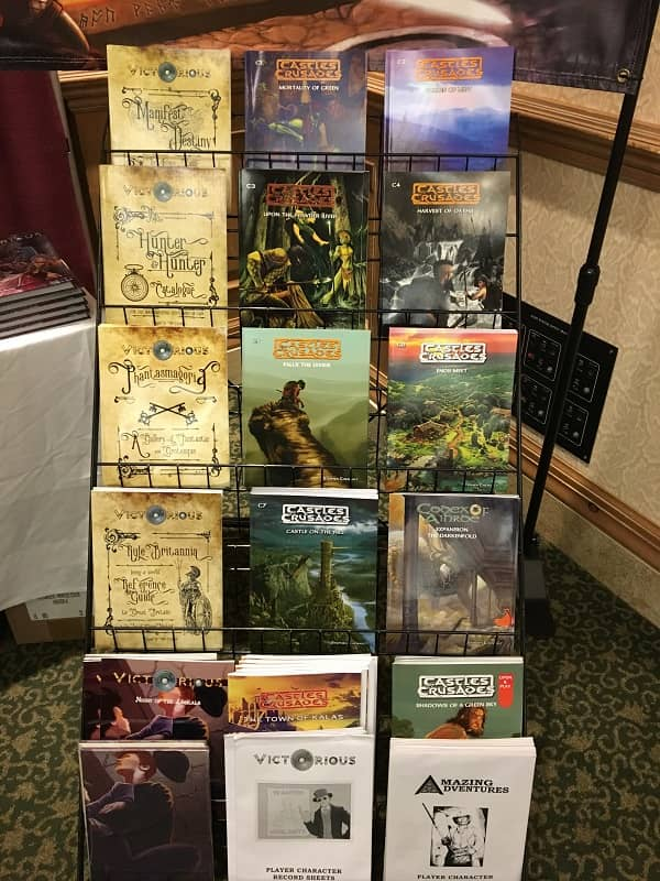 Castles and Crusades releases in the Troll Lord booth at Gary Con 2018-small
