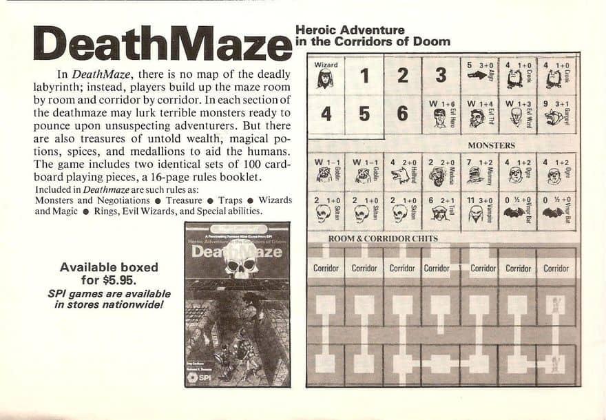 Deathmaze SPI box version ad-small