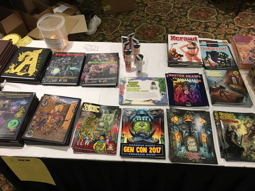 More Dungeon Crawl Classics in the Goodman Games booth at Gary Con 2018-small