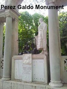 Perez Galdos monument