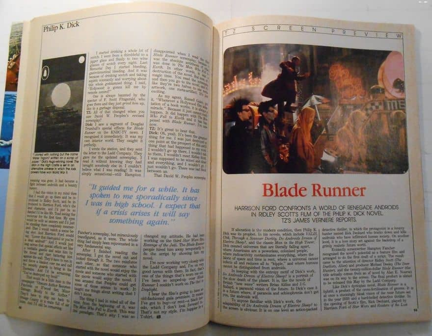 Rod Serling's The Twilight Zone Magazine June 1982 Blade Runner-small