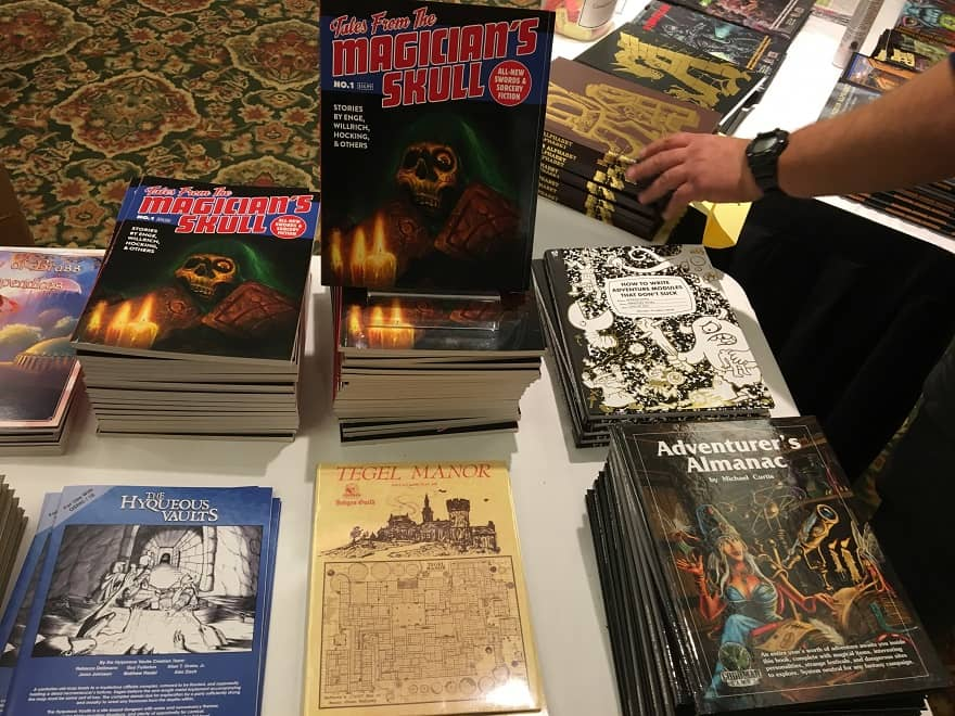 Tales from the Magicians's Skull in the Goodman Games booth at Gary Con 2018-small