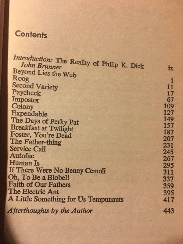 The Best of Philip K Dick-contents-small
