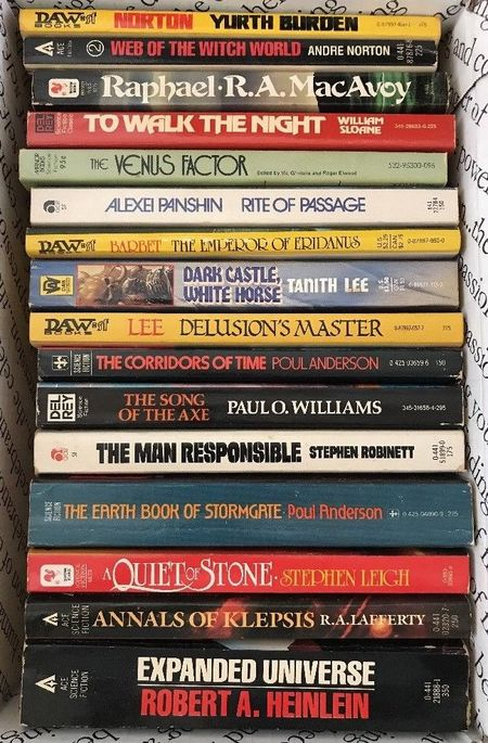 Vintage science fiction paperback collection 16 books-small