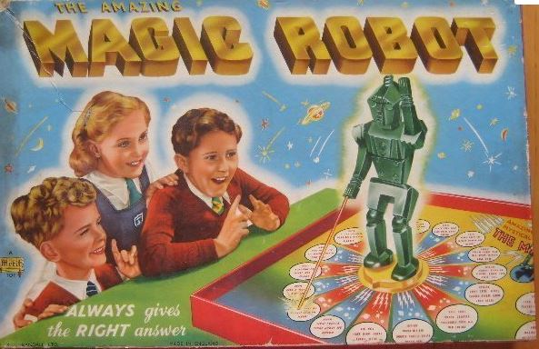 Merit Magical Amazing Robot board game first box cover