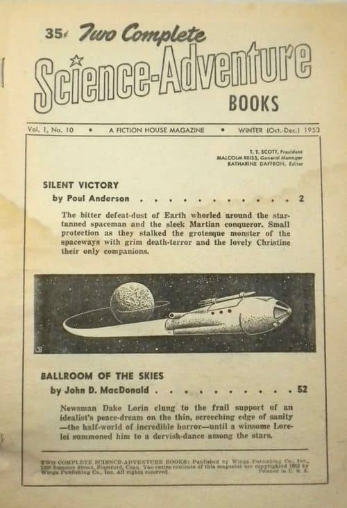 Two Complete Science-Adventure Books Winter 1953 Table of Contents-small