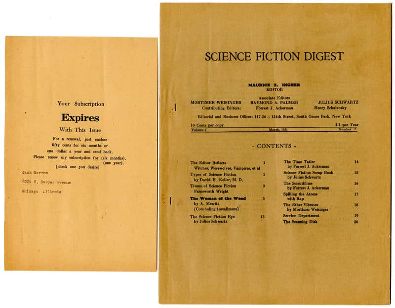 science fiction digest 1933 03 + subscription notice-small