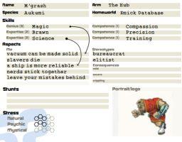 256 EL Example Character Sheet