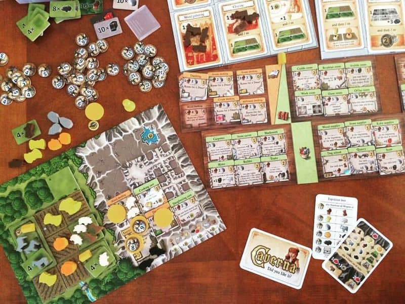 Caverna solitaire game-small