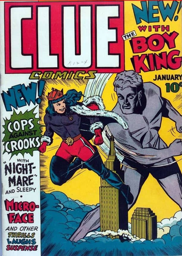 Clue-Comics-1-Jan.-1943-Boy-King-and-the-Giant-p1