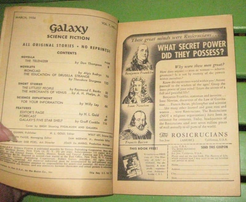 Galaxy March 1954 contents-small