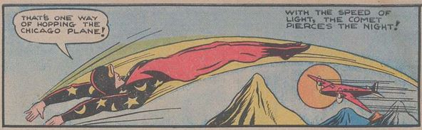Pep Comics #1 January 1940 The Comet p3 panel