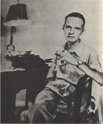 Cornell Woolrich and Typewriter