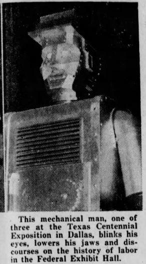 1936-08-06 Whitewright [TX] Sun 2 texas fair robot
