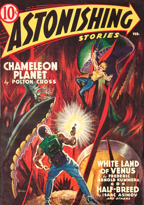 Astonishing Stories February 1940 cover Jack Binder artist