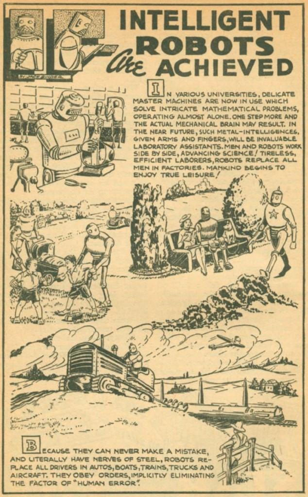 IF Intelligent Robots Are Achieved, Jack Binder, Thrilling Wonder, May 1940 48