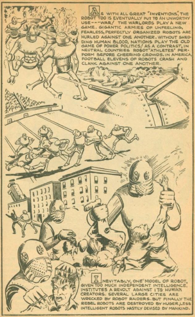 IF Intelligent Robots Are Achieved, Jack Binder, Thrilling Wonder, May 1940 49
