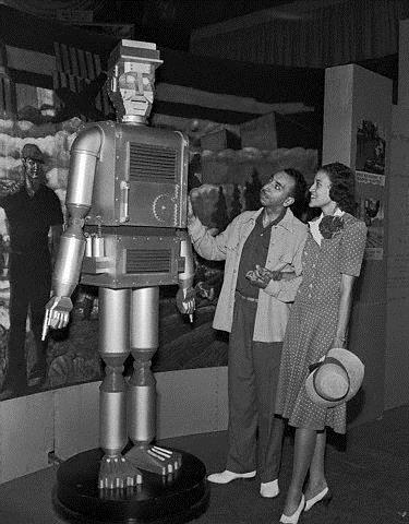Mechanical Man Exhibit at the American Negro Exposition 1940