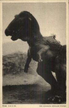 Sinclair Oil Dinosaur exhibit t rex. postcard