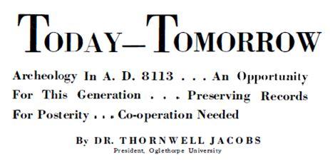 1936-11 Scientific American Thornwell Jacobs today-tomorrow headline
