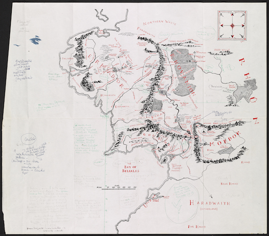 Annotated Middle earth map HIGH RES 300 dpi