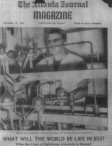 Atlanta Journal Magazine, September 27, 1942 crypt of civilization cropped
