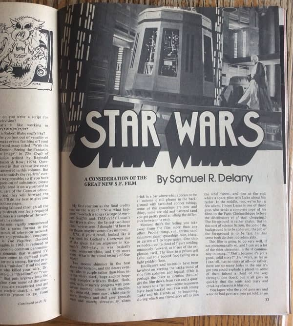 Cosmos Science Fiction 4 - Star Wars Samuel Delany-small