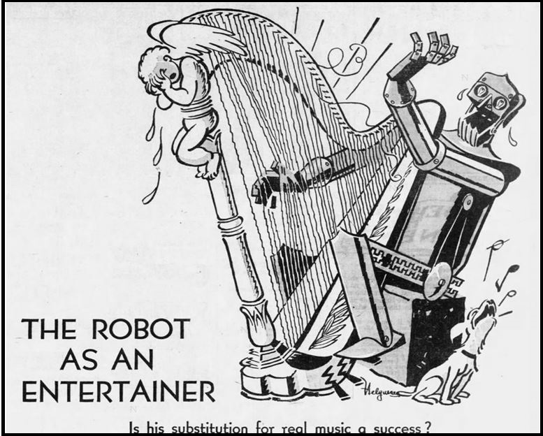 1929-10-22 New York Daily News AFM Robot as Entertainer 39 cropped