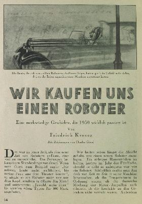 Friedrich Kroner original German article first page UHU November 1932