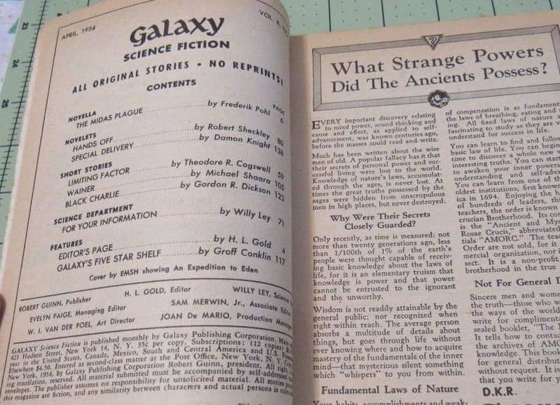 Galaxy Science Fiction April 1954 Contents-small