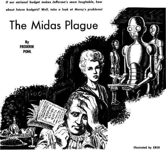 Galaxy Science Fiction April 1954 The Midas Plague