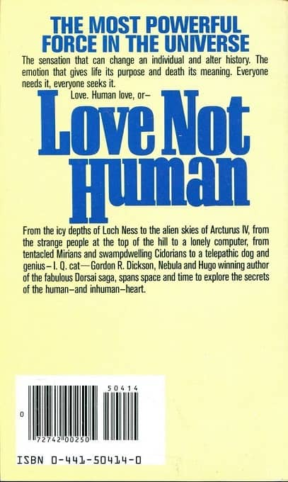 Love Not Human Gordon R Dickson-back-small