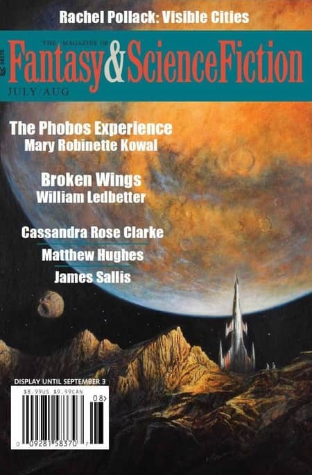 Magazine of Fantasy and Science Fiction July August 2018-small