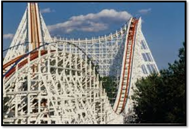 Six Flags American Eagle coaster circa 1976