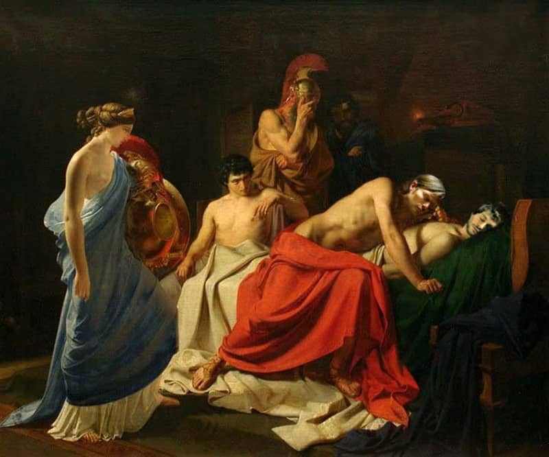 (4) Achilles Lamenting the Death of Patroclus-small