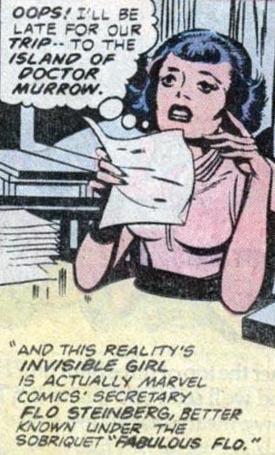 (5) Fabulous Flo as drawn by Jack Kirby