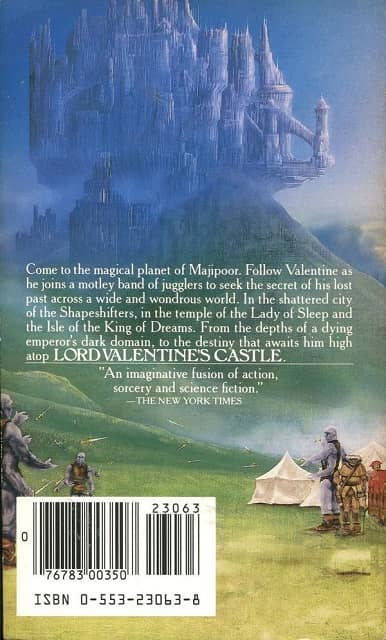 Lord Valentine's Castle Robert Silverberg-back-small