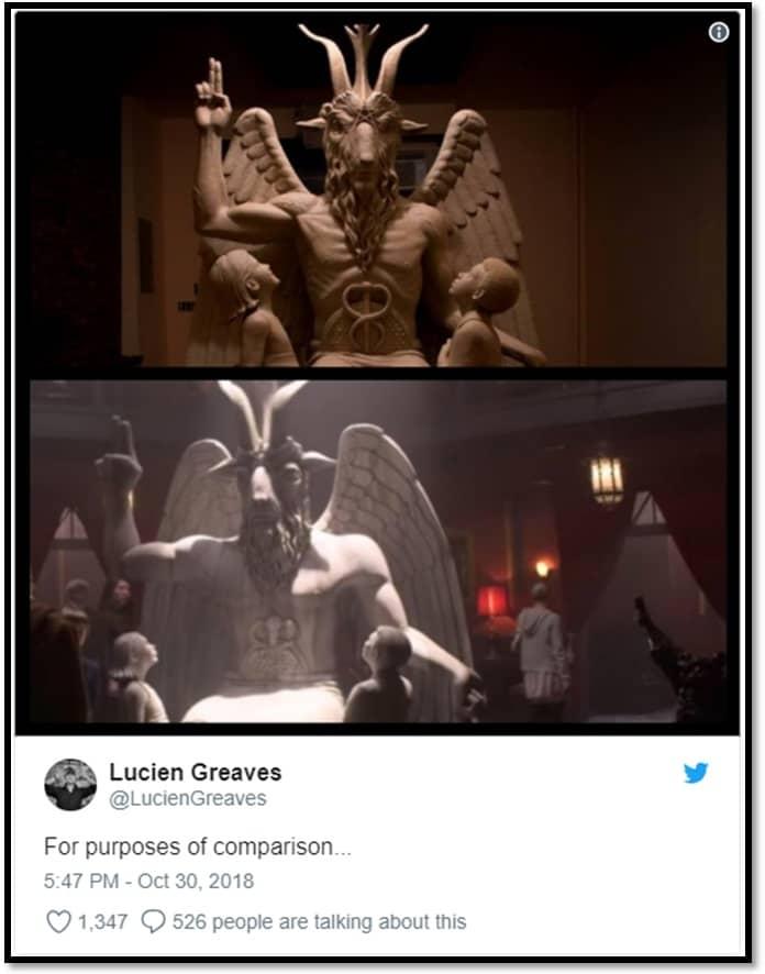 Lucien Greaves tweet Sabrina