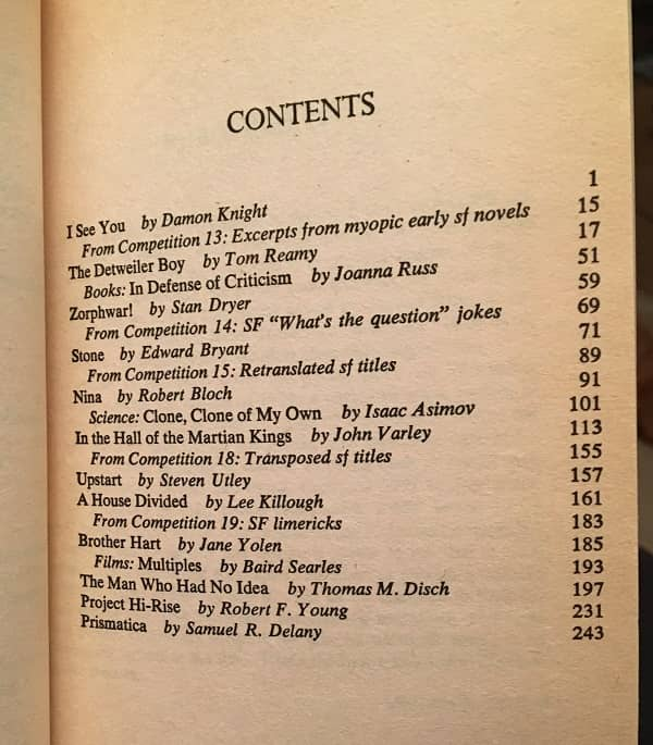 The Best from Fantasy & Science Fiction 23 contents