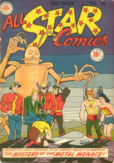 All-Star_Comics #26, Fall 1945 cover