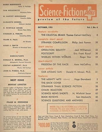 Science Fiction Plus September 1955 contents-small