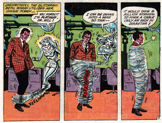Showcase #37, March-April 1962, p9 panels Metal Men
