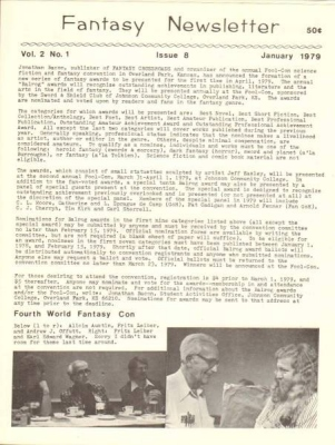 Fantasy Newsletter January 1979