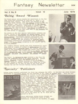 Fantasy Newsletter June 1979