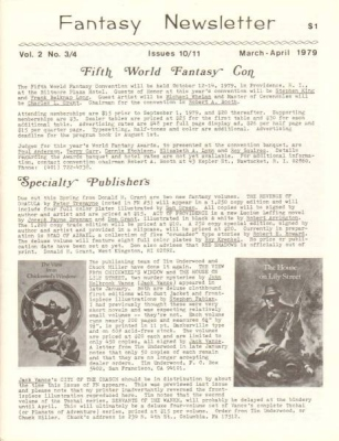Fantasy Newsletter March-April 1979